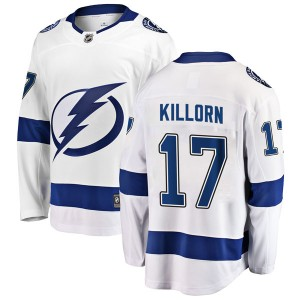 Men's Fanatics Branded Tampa Bay Lightning Alex Killorn White Away Jersey - Breakaway