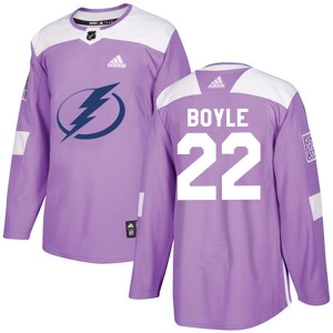 Men's Adidas Tampa Bay Lightning Dan Boyle Purple Fights Cancer Practice Jersey - Authentic