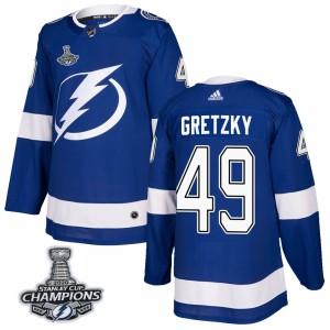 Men's Adidas Tampa Bay Lightning Brent Gretzky Blue Home 2020 Stanley Cup Champions Jersey - Authentic